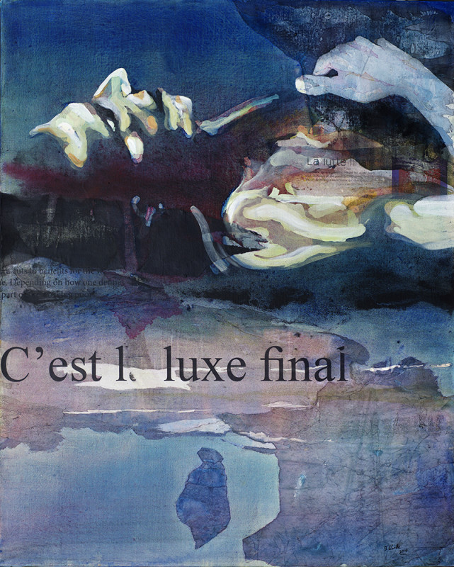 Bruce Clarke, 'C'est le lux final', 2014, Acrylic, collage, 100 x 81 cm, Courtesy of the artist and ARTCO Gallery