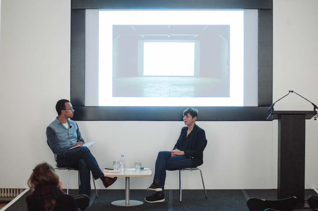 1:54 FORUM 2015: Omar Berrada in conversation with artist Katia Kameli. Image courtesy of 1:54 © Benjamin Hoffman