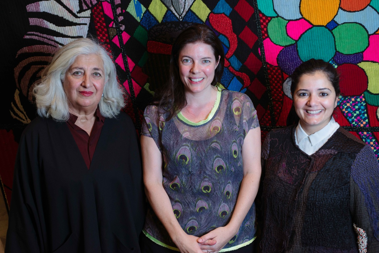 1:54 Forum 2015: Antonia Carver in conversation with Rose Issa and Selma Feriani. Image courtesy of 1-54 © Benjamin Hoffman