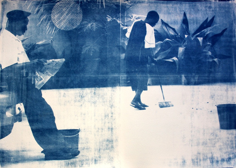 Délio Jasse, 'Terreno Ocupado', 2014, Cyanotype on Fabriano paper, edition of 3 + 2 A. P 56 x 76 cm, Courtesy of the artist and Tiwani Contemporary