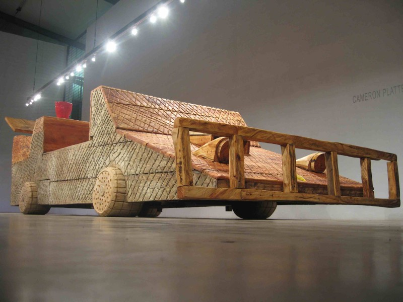 Cameron Platter, 'Car', 2008, Carved avocado and jacaranda wood, 390 x 150 x 100 cm, Courtesy of Cameron Platter studio