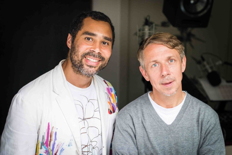 Robi Walters and Gilles Peterson for Worldwide FM, 2016, Photograph by Dave O'Donnell