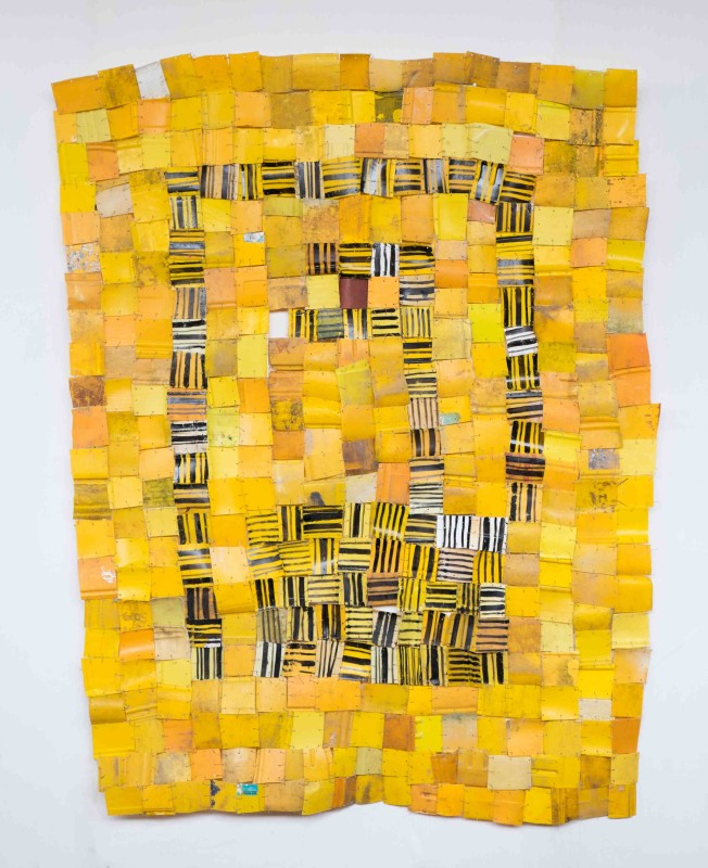 Serge Attukwei Clottey, 'Packed Community', 2016, Plastics, wire and oil paint, 152.4 x 198.12 cm, Courtesy of the artist and Gallery 1957