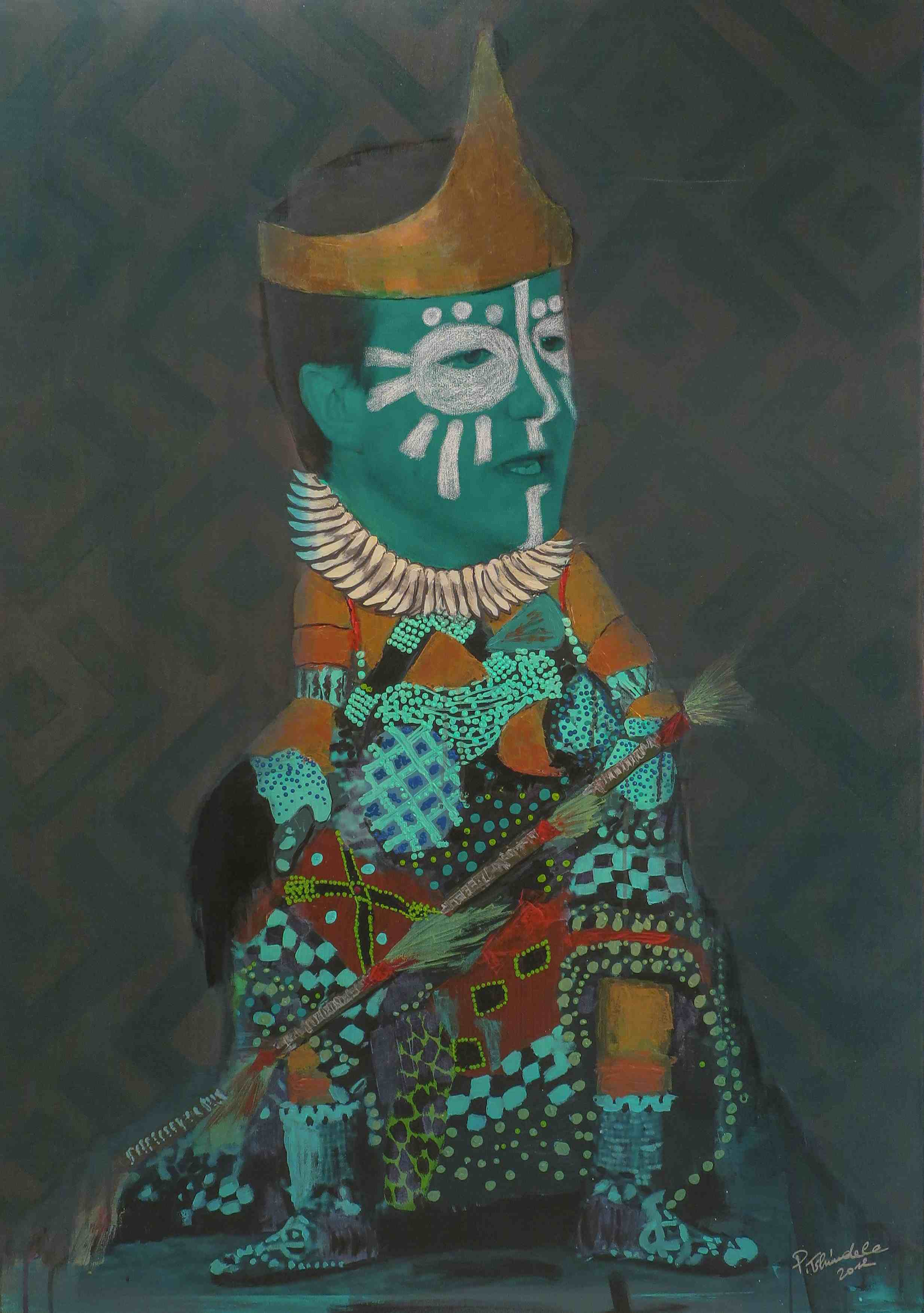 Pathy Tshindele, 'Sans Titre', 2012, Acrylic on canvas, 125.5 x 89.5 cm, Courtesy of Galerie MAGNIN-A