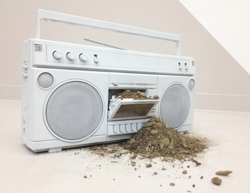 Sadie Barnette, 'Untitled (Boombox)', 2015, Mixed media, Dimensions variable, Courtesy of Jenkins Johnson Gallery