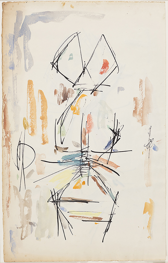 Ernest Mancoba, 'Untitled', Undated, Ink and oil pastel on paper, 49.2 x 31 cm, Courtesy of the Estate of Ernest Mancoba and Galerie Mikael Andersen
