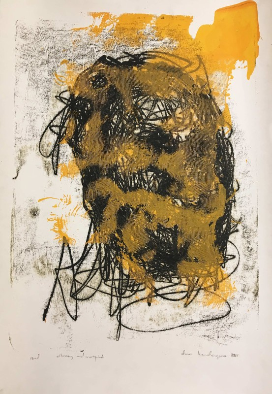 Admire Kamudzengerere, Untitled, 2015, Monotype lithograph on paper, 63.5 x 47 cm. Courtesy the artist and Tyburn Gallery