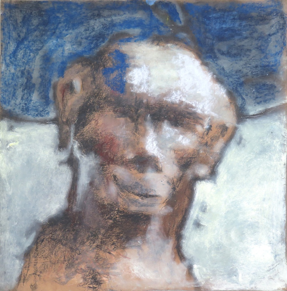 Sadikou Oukpedjo, Mue #1, 206, Pastel on paper, 60 x 60 cm. Courtesy Galerie Cécile Fakhoury