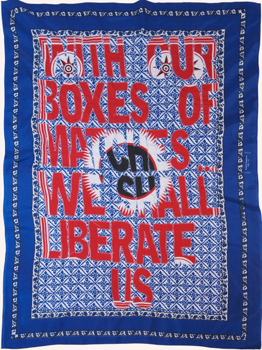 Lawrence Lemaoana, 1985, 2015, Fabric and embroidery, 157 x 117 cm / 61.81 x 46.06 in, Courtesy of AFRONOVA Gallery