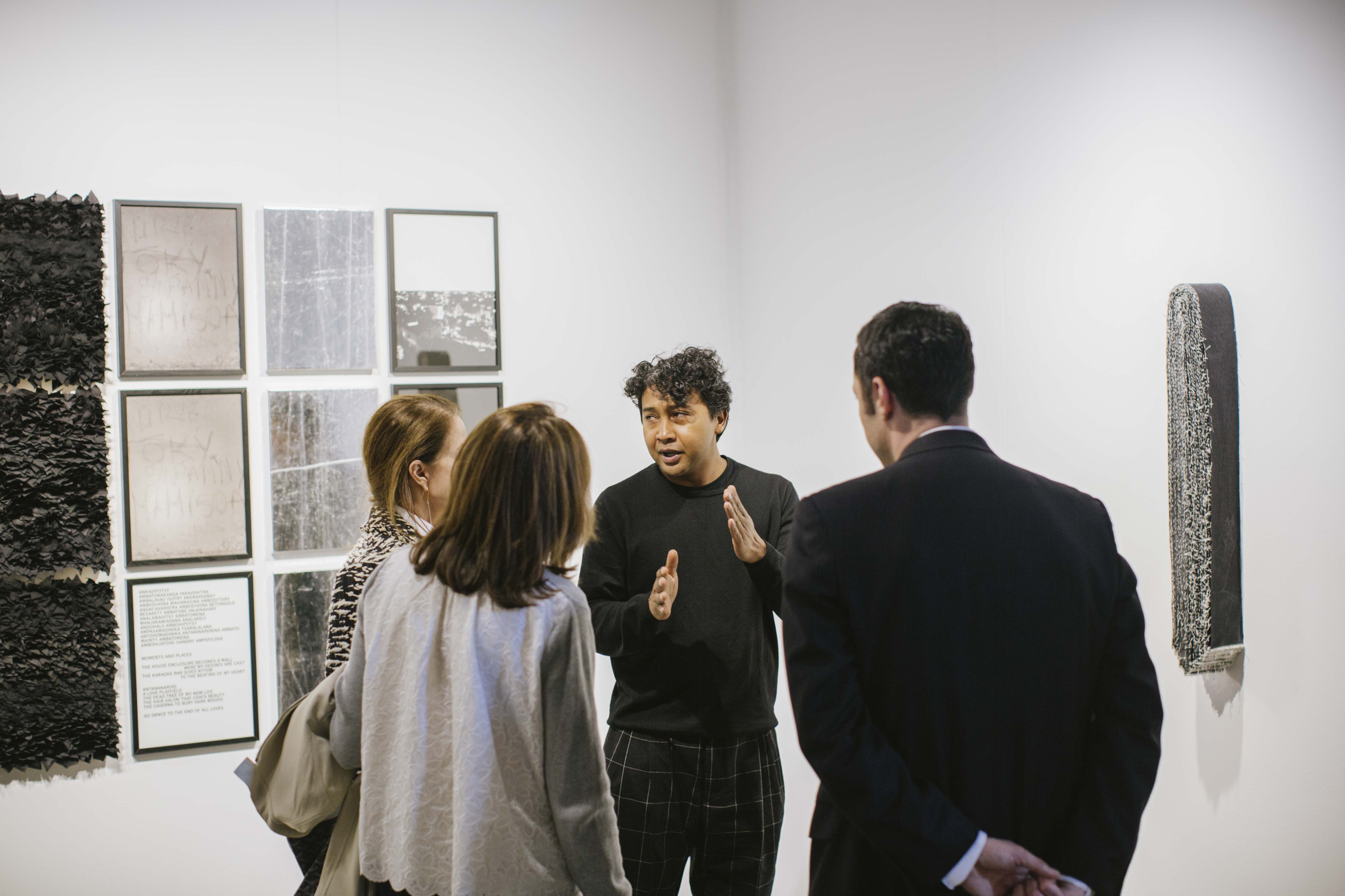 Joël Andrianomearisao, Sabrina Amrani Gallery, Madrid, Spain, at 1:54 New York 2016 © Katrina Sorrentino