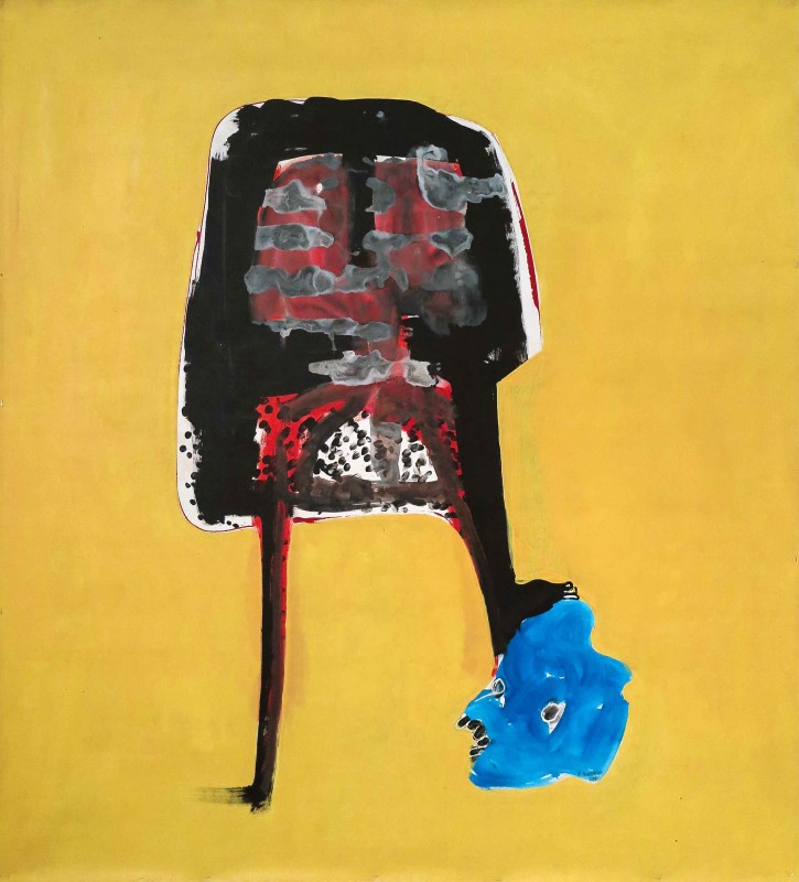 Amadou Sanogo, Sans tête, 2016, Acrylic on canvas, 178 x 163 cm / 70 x 64 in, Signed and dated, Photo: Cyrille Martin, Courtesy MAGNIN-A